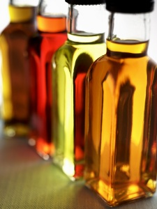 Bottles of oils
