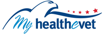 My HealtheVet logo - opens in new window